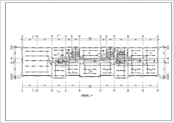 办公楼设计_某厂区五层砖混结构办公楼配电设计cad全套电气施工图纸(含设计说明,含弱电设计)-图一