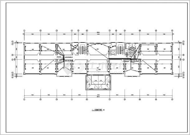 办公楼设计_某厂区五层砖混结构办公楼配电设计cad全套电气施工图纸(含设计说明,含弱电设计)-图二