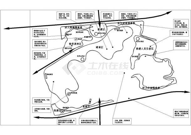 四川某县城公园景观设计施工图cad 图纸-图一