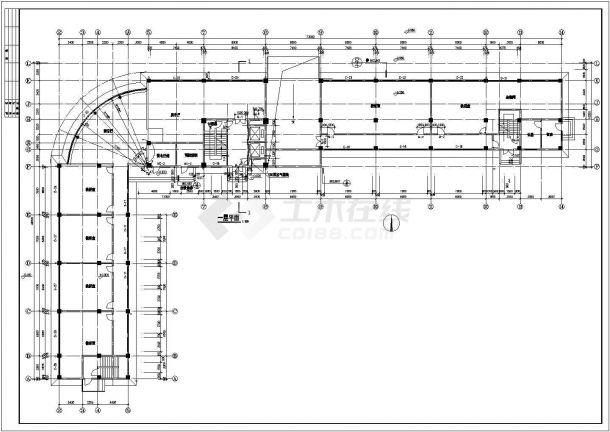 某小学7200平米6层框架结构教学综合楼平立面设计CAD图纸(含总平面图)-图二