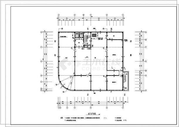 某市大型小区建筑施工图纸-图一