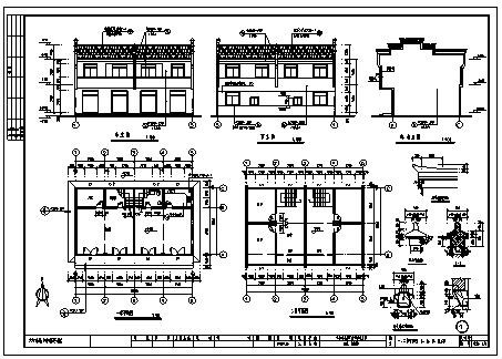 某二层砖混结构商住楼建筑结构施工cad图_商住楼施工-图一