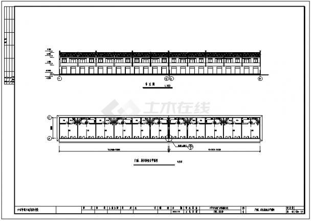 某二层砖混结构商住楼建筑结构施工cad图_商住楼施工-图二