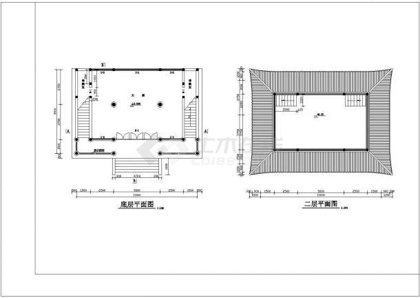 苏州某精品景区寺庙观音殿建筑全套施工图-图二