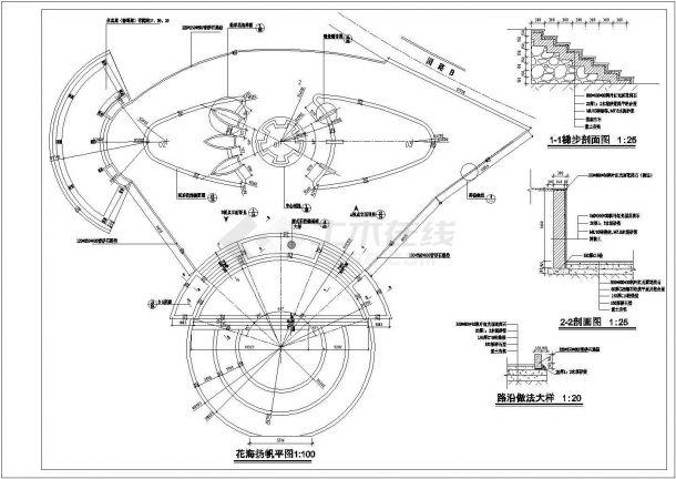重庆某公园景观设计全套施工cad图(含设计图)-图二