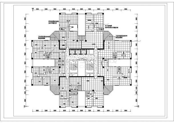 某地豪景住宅楼建筑施工图纸-图二