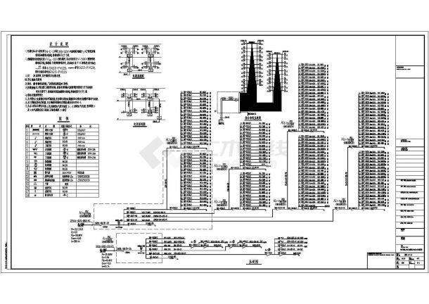 某多层办公楼电气设计全套CAD图纸-图一
