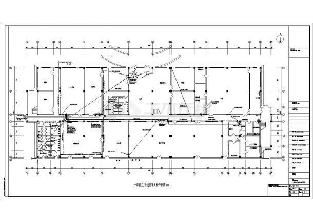 某多层办公楼电气设计全套CAD图纸-图二