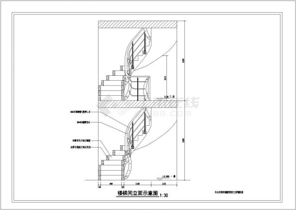 旋转楼梯cad设计图纸-图一