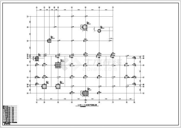 苏州某商业区商务中心多层办公楼结构全套施工图-图一