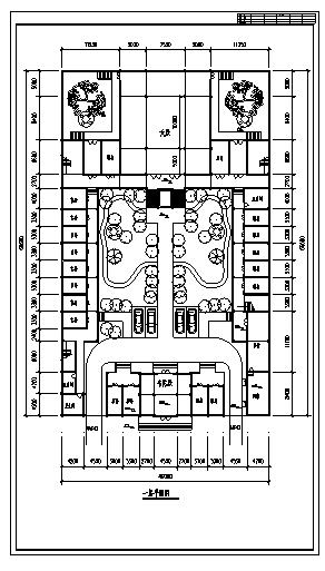 殿设计_某市园林区某二层仿古韦陀殿建筑施工cad图纸-图二