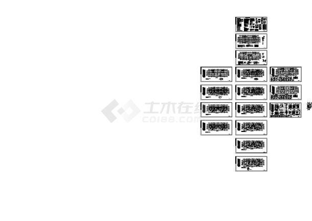17层剪力墙结构住宅楼结构施工图CAD图纸设计-图一