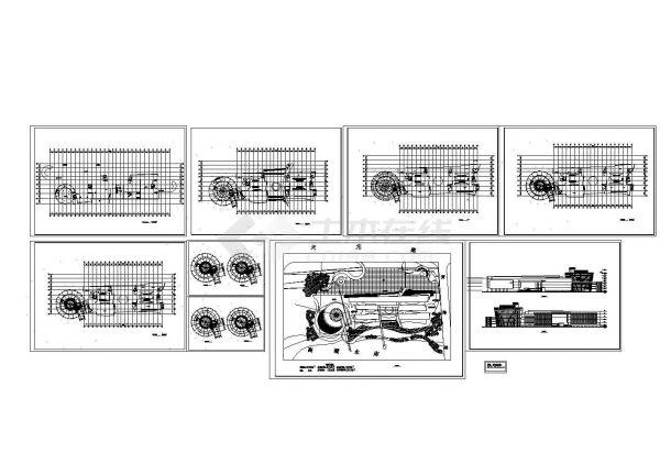 主体地下1地上4层局部8层艺术馆建筑方案设计图-图一
