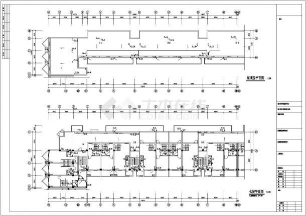 某生活住宅楼内生活给水排水详细方案设计施工CAD图纸-图一