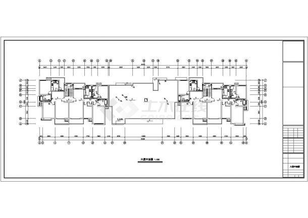 某六层居民住宅楼内生活给水排水详细方案设计施工CAD图纸-图二