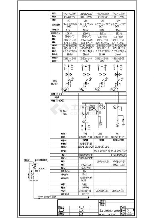 某大型项目施工用电变配电系统设计cad全套电气施工图纸(含设计说明)-图二