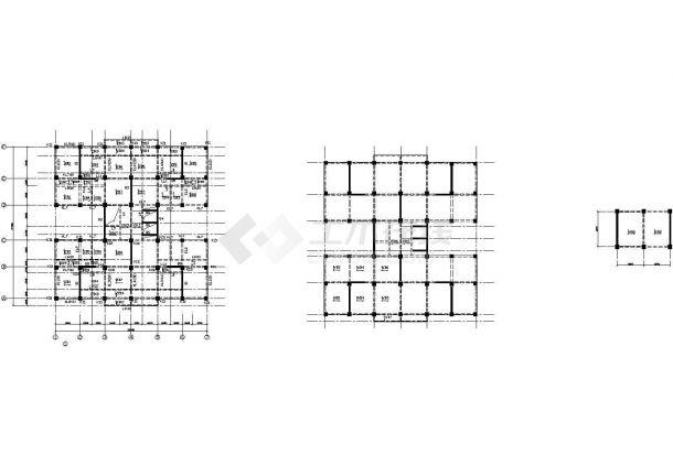 十层框架剪力墙公寓住宅楼建筑结构设计施工cad图纸(含计算书)-图一