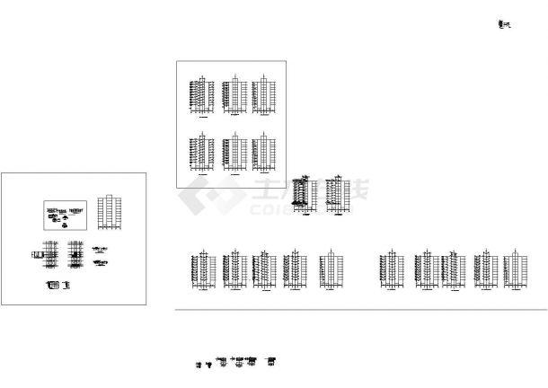 十层框架剪力墙公寓住宅楼建筑结构设计施工cad图纸(含计算书)-图二