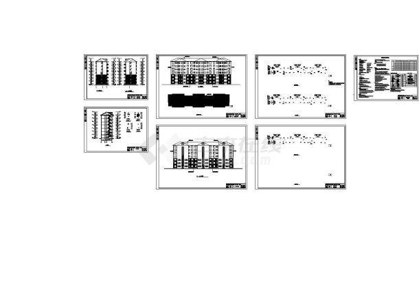 4000平方米七层住宅楼全套建筑结构设计施工cad图纸(含计算书)-图一