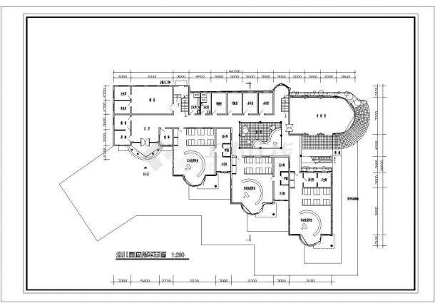 6班2层幼儿园建筑方案cad设计图纸-图一