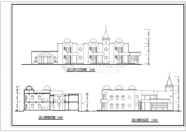 6班2层幼儿园建筑方案cad设计图纸-图二