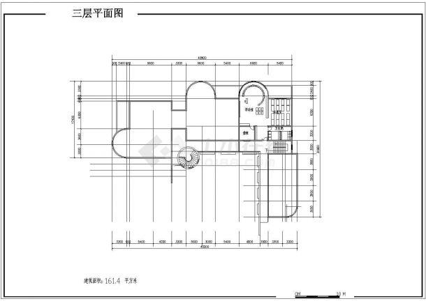 7班:3层1413.6平米幼儿园建筑方案cad设计图-图一