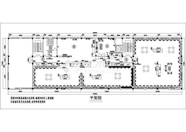 某地四楼展厅平面设计cad施工图-图一