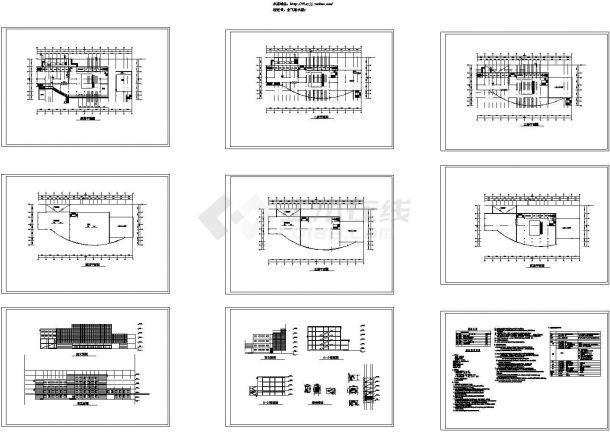 5层4642平米展览馆建施设计图-图一