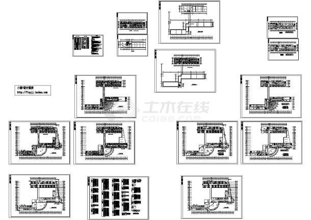 长114.44米 宽79.54米 局部6层医院综合楼电施设计图-图一