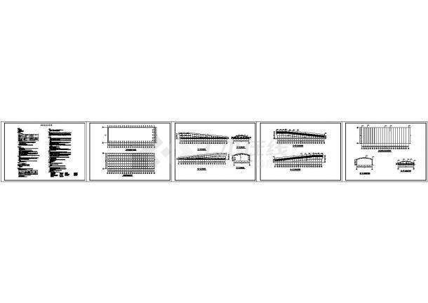 车库出入口(阳光板) CAD设计详图-图一