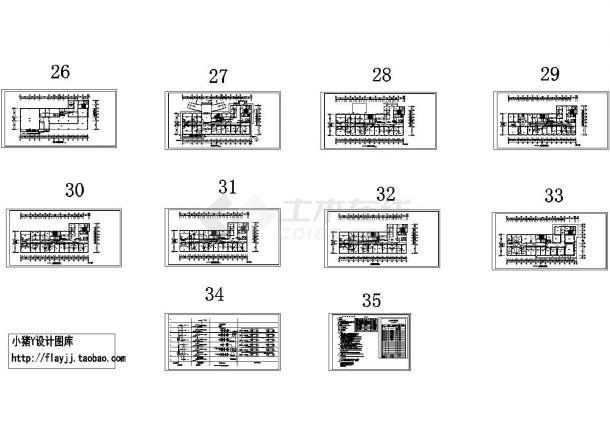 -1+8层医院住院楼电施设计图纸【只含各层照明平面图】-图一