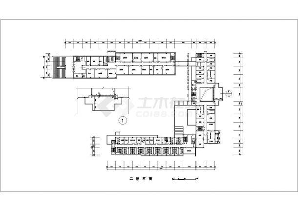 沧州市某职业学院1.2万平米5层框架机构医院实验楼平面设计CAD图纸-图二