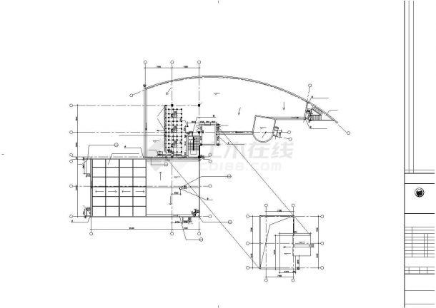 6800平米左右三层框架结构商务会所平面设计CAD图纸(含地下层)-图一