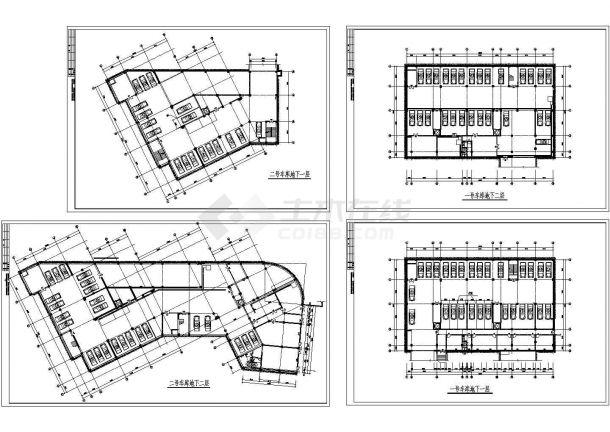 某小区地下车库工程设计CAD平面方案图-图一