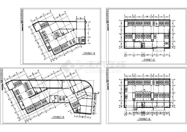 某小区地下车库工程设计CAD平面方案图-图二