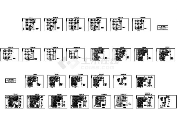 某县医院肿瘤病房大楼主体结构设计施工图-图一