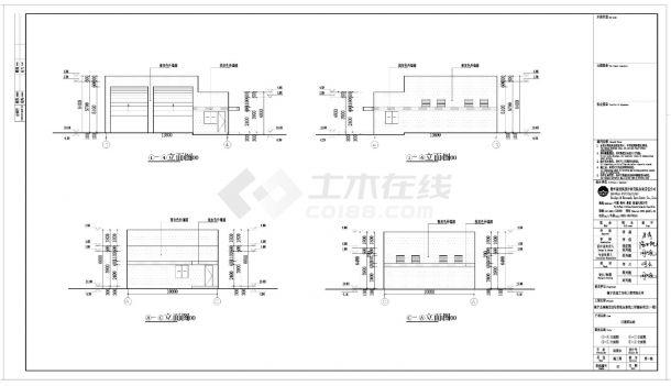 [贵州]生活垃圾转运站单层工业建筑施工cad图纸-图一