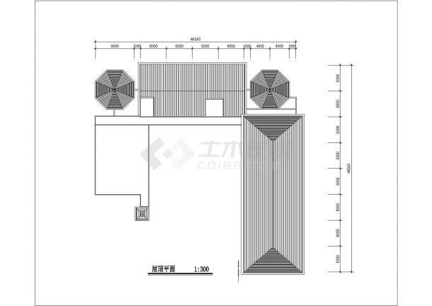 9班3层幼儿园建筑方案cad设计图-图一