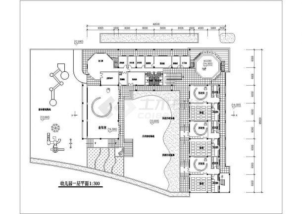 9班3层幼儿园建筑方案cad设计图-图二