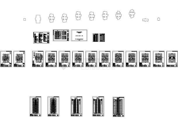 某温泉度假村多层住宅楼设计cad全套建筑施工图(含设计说明)-图二