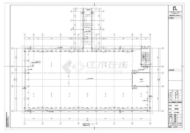 [宁夏]现代产品加工厂房建筑施工cad图纸-图一