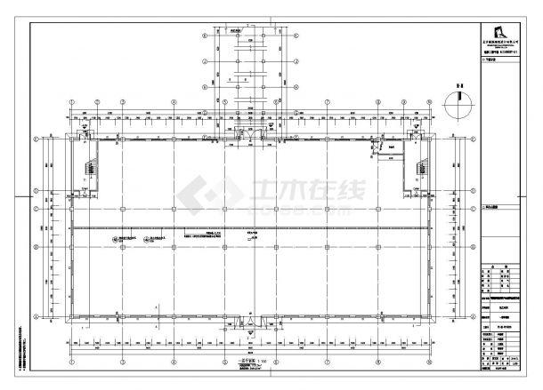 [宁夏]现代产品加工厂房建筑施工cad图纸-图二