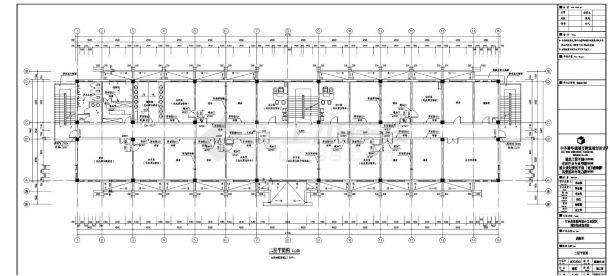 [宁夏]大型工业区消防站建筑改造施工cad图纸-图一