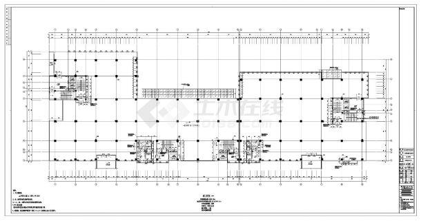[深圳]丙类高层陶土板外墙标准生产厂房建筑施工cad图纸-图二