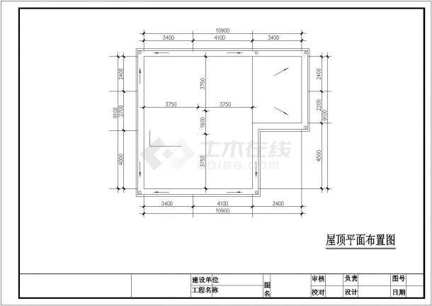325平米2层框混结构独立别墅全套装修施工设计CAD图纸-图二