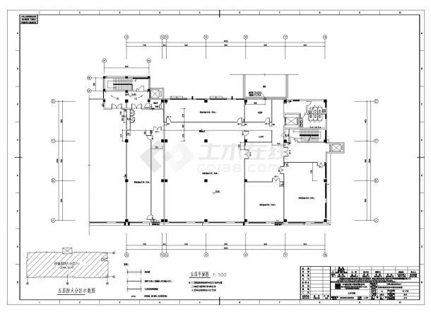 [四川]五层丙类厂房建筑施工cad图纸-图二