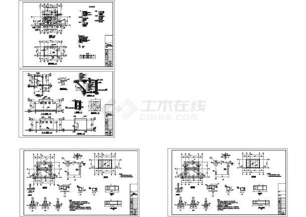 经典旱厕设计cad全套建筑施工图纸(含设计说明,含结构设计)-图一