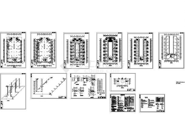 某地9层工厂宿舍水施【各层给排水平面 消防生活给水系统原理图 卫给排水大样 排水系统原理图 说明 消防设计专篇说明】-图一