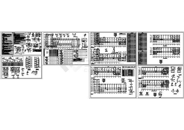 某市社保局五层框架结构办公楼(3226㎡)设计cad全套建筑施工图纸(含设计说明,含结构设计,含效果图)-图二
