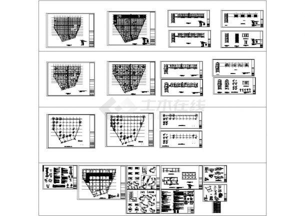某市公共广场及地下停车场整套建设cad结构施工图纸(含设计说明)-图二